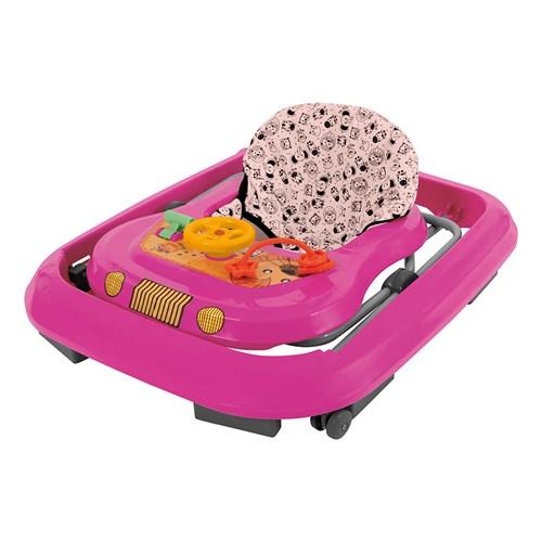 Andador Infantil Tutti Baby Toy Com brinquedos - Rosa
