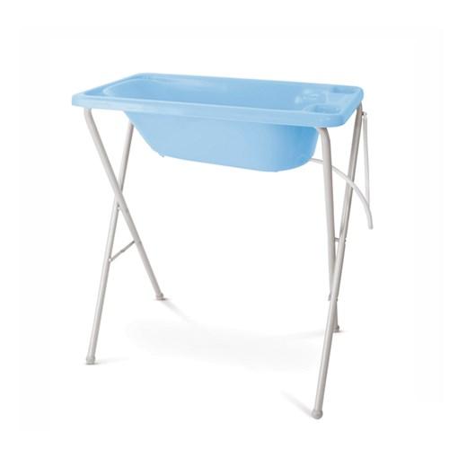 Banheira de Bebê Galzerano com Suporte e Trocador - 7055 / 7050 Azul