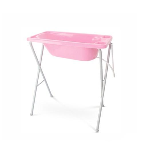 Banheira de Bebê Galzerano com Suporte e Trocador - 7055 / 7050 Rosa