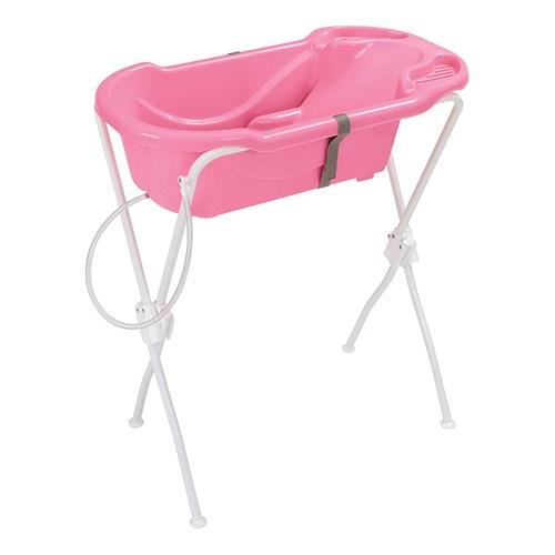 Banheira de Bebê Tutti Baby 6000 com Suporte - Rosa