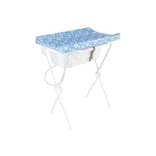 Banheira de Bebê Tutti Baby Floripa 5600 com Suporte e Trocador - Azul