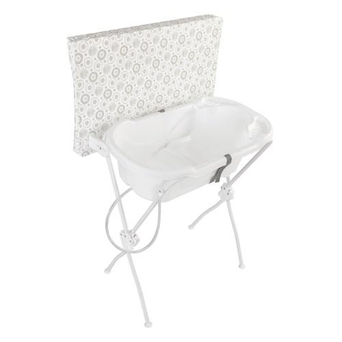 Banheira de Bebê Tutti Baby Floripa 5600 com Suporte e Trocador - Branco