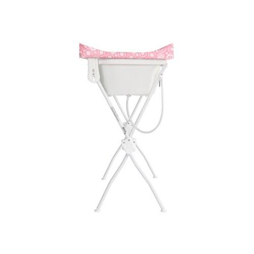 Banheira de Bebê Tutti Baby Floripa 5600 com Suporte e Trocador - Rosa