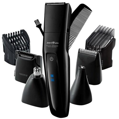 Barbeador Elétrico Britânia Multi Groom 7x1 BAP03 Preto - Seco Bivolt