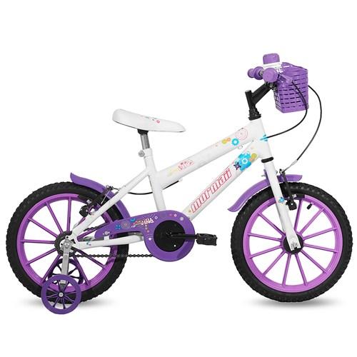 Bicicleta Aro 16 Sweet Girl Mormaii - Branca