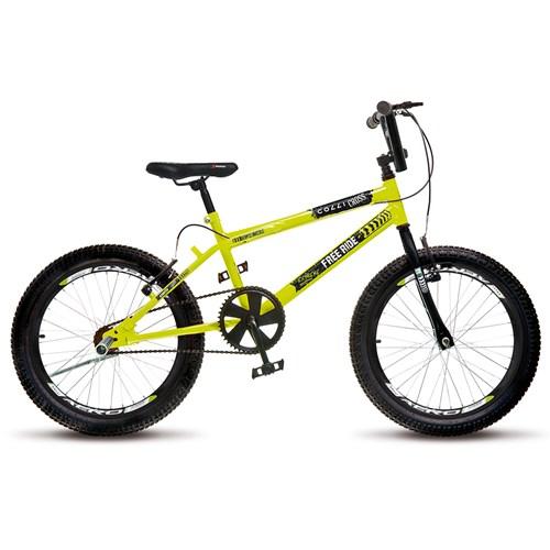 Bicicleta Aro 20 Cross Extreme 110 Colli - Amarelo Neon