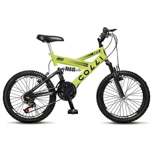Bicicleta Aro 20 GPS 310 Colli  - Amarelo Neon