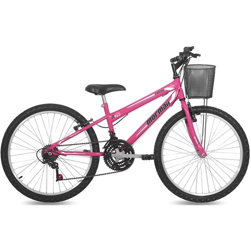Bicicleta Aro 24 Fantasy Mormaii - Rosa