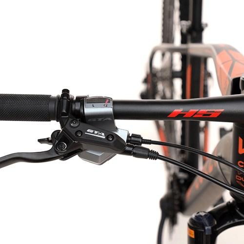 Bicicleta Aro 29 Duster 831H Colli - Preto / Laranja Neon