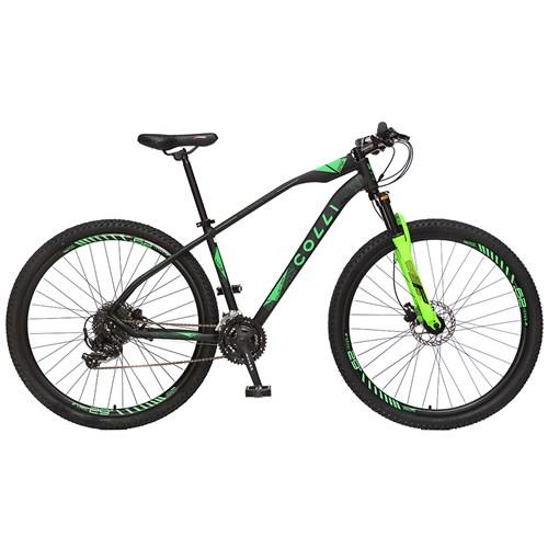 Bicicleta Aro 29 Duster 831H Colli - Preto / Verde Neon