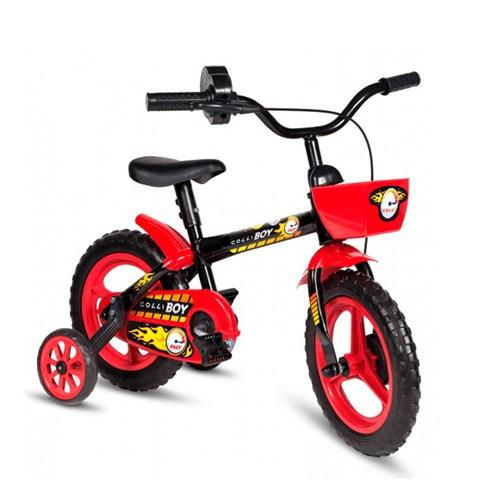 Bicicleta Colli Aro 12 Boy Acelerador - Preta