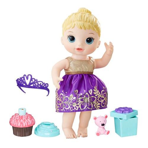 Boneca Baby Alive Hasbro Festa Surpresa Loira