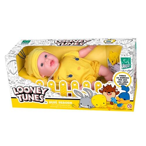 Boneca Looney Tunes Bebe Reborn Piu Piu - 439 Super Toys