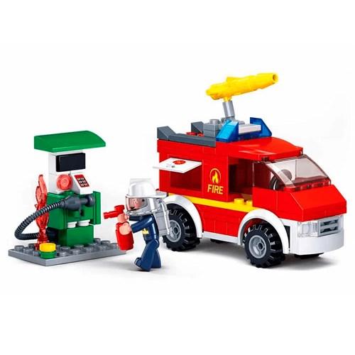 Brinquedo Blocos de Montar Multikids Bombeiro - BR821