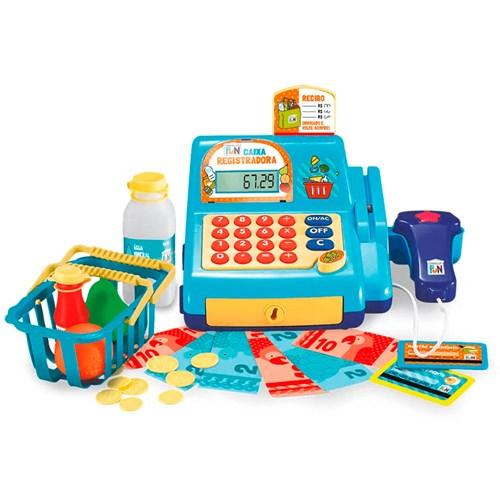 Brinquedo Caixa Registradora BR386 - Azul