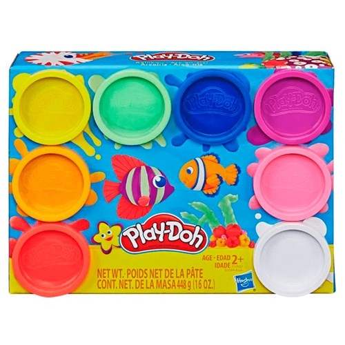 Brinquedo Hasbro Play Doh Classic 8 Potes  - E5062