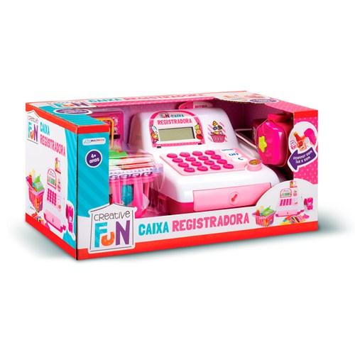 Brinquedo Multikids Caixa Registradora Creative Fun - BR387 Rosa com Acessórios