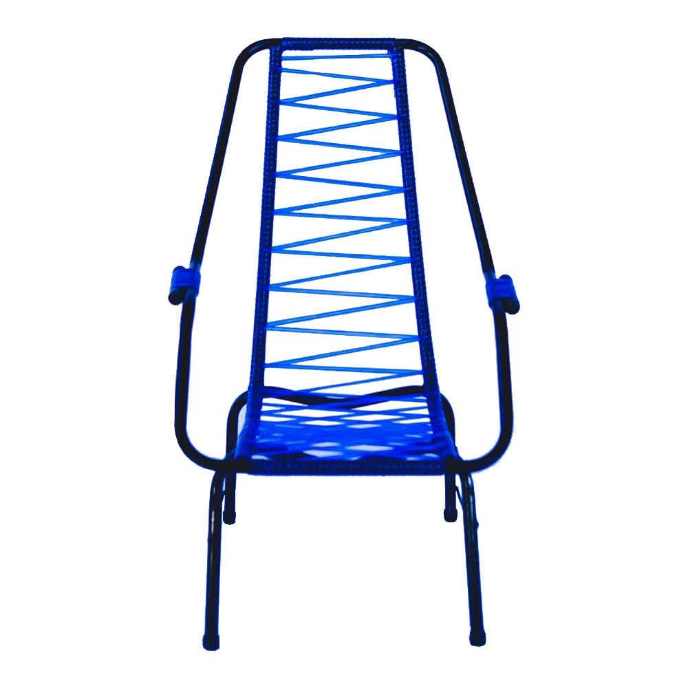Cadeira de Área de Cordão Parreira Infantil - Azul