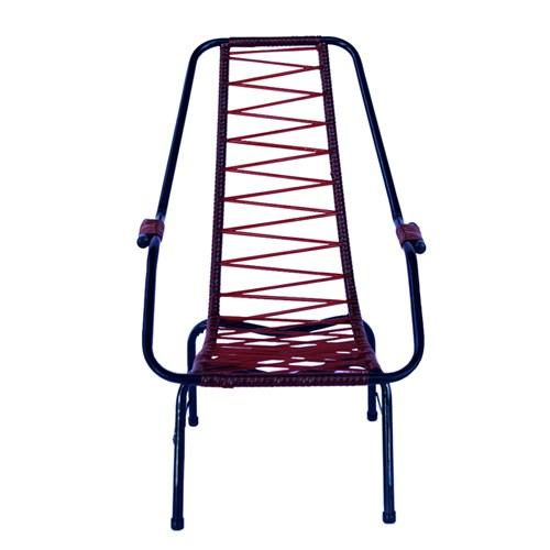 Cadeira de Área de Cordão Parreira Infantil - Vermelho