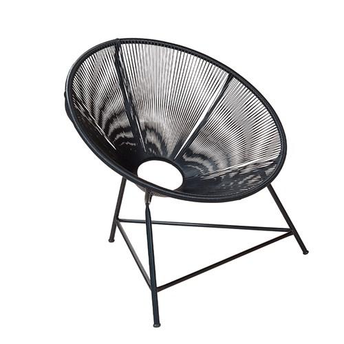 Cadeira de área WJ Sol - 213 - Preta