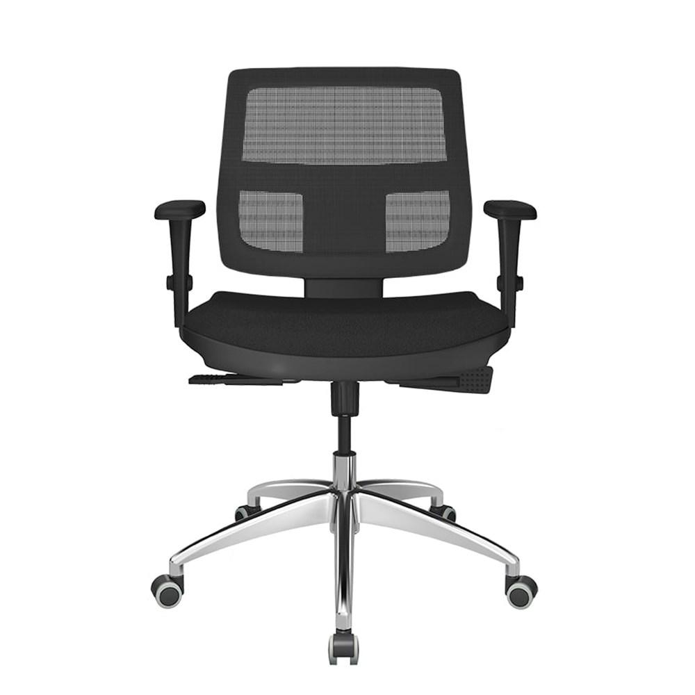 Cadeira de Escritório Plaxmetal Executiva - Preto