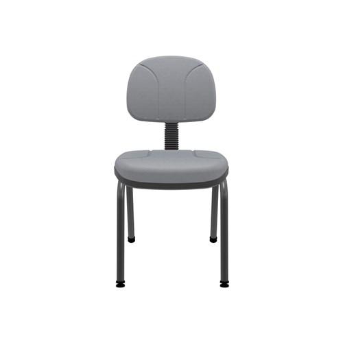 Cadeira de Escritório Plaxmetal Operativa Fixa Secretária - Cinza