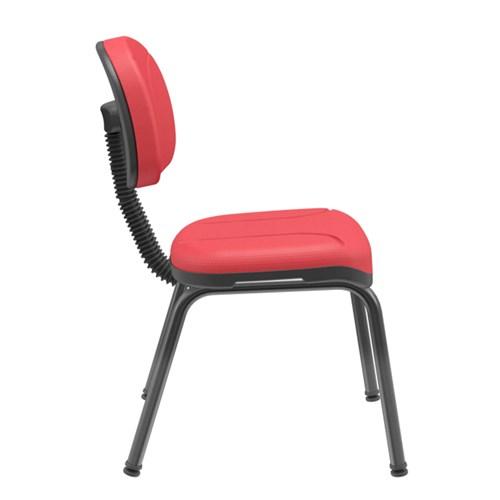 Cadeira de Escritório Plaxmetal Operativa Fixa Secretária - Vermelho