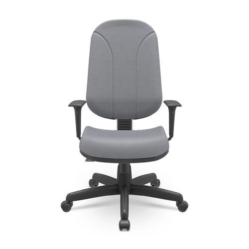 Cadeira de Escritório Plaxmetal Operativa Presidente Estofada - Cinza com Braço