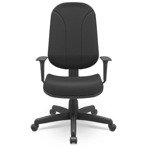 Cadeira de Escritório Plaxmetal Operativa Presidente Estofada - Preto com Braço