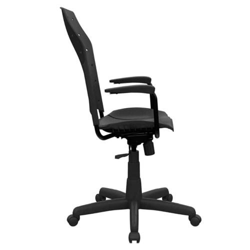 Cadeira de Escritório Plaxmetal Presidente Estofada - Preto com Braço