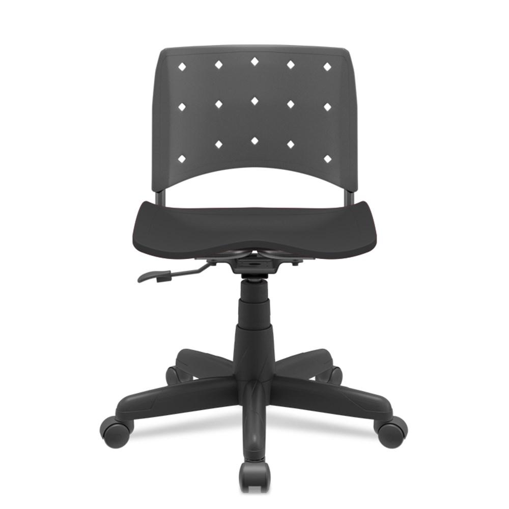 Cadeira de Escritório Plaxmetal Secretária sem Braço - Preto