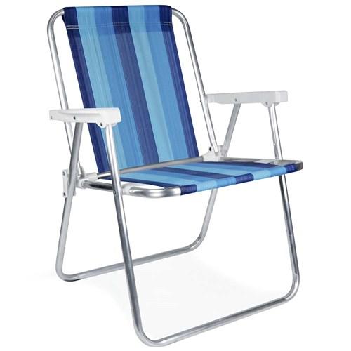 Cadeira de Praia MOR Alta - Aluminio 2101