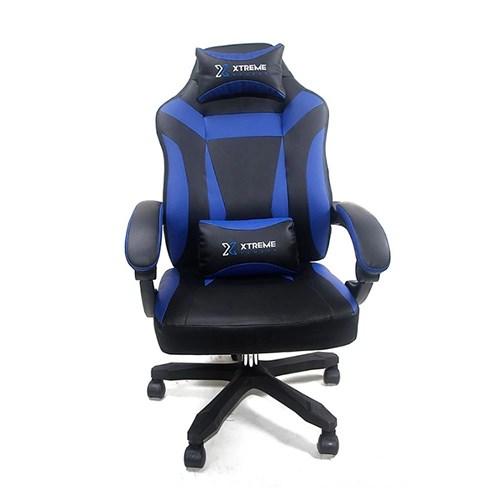 Cadeira Gamer Xtreme Reclinável Giratória - Preta / Azul