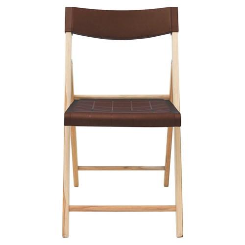 Cadeira Tramontina Potenza Teca - Marrom em Madeira e Polipropileno