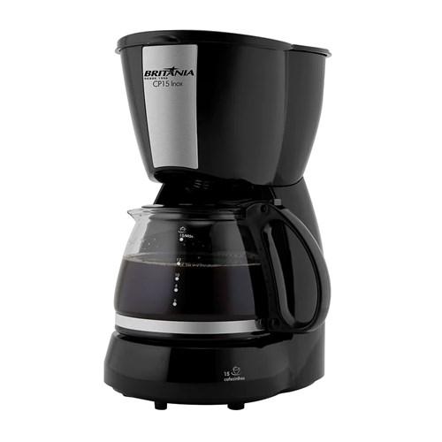 Cafeteira Elétrica Britânia CP15  - 15 Xícaras Preto e Inox 110v