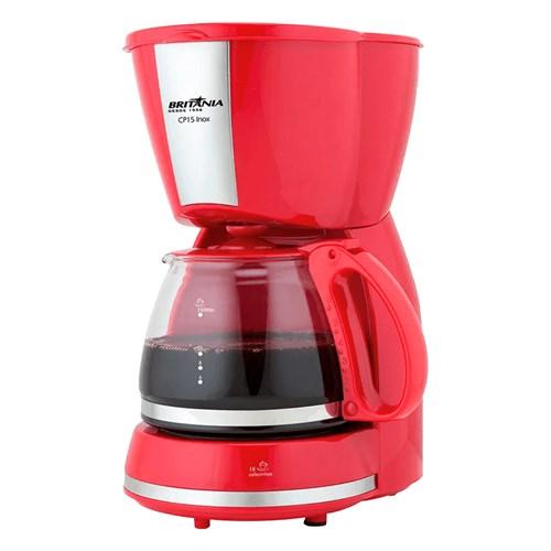 Cafeteira Elétrica Britânia CP15  - 15 Xícaras Vermelho e Inox 110v