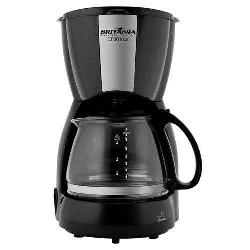 Cafeteira Elétrica Britânia CP30 - Preto e Inox 30 Xícaras 110v