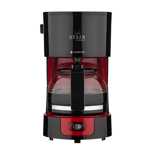 Cafeteira Elétrica Cadence Urban Compact CAF300 - Preto e Vermelho 15 Xícaras 110v