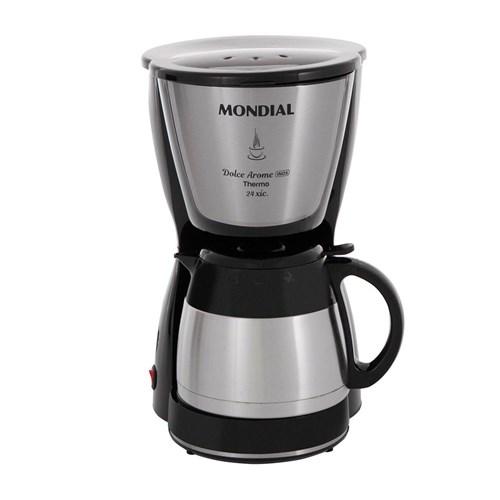 Cafeteira Elétrica Mondial Dolce Arome Thermo C-33 - Preta 24 Xícaras 110v