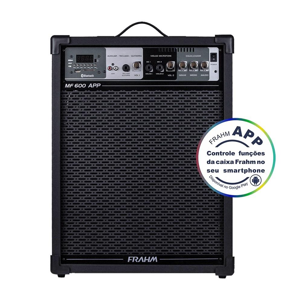 Caixa Amplificada Frahm  MF600APP 100W-RMS