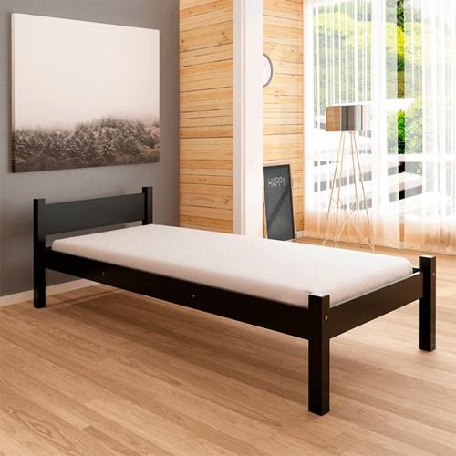 Cama de Solteiro Amazônia Jade - Black Piano