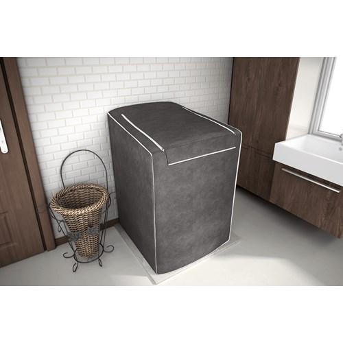 Capa Para Máquina De Lavar Roupas Adomes 12 à 16 Kg - Café