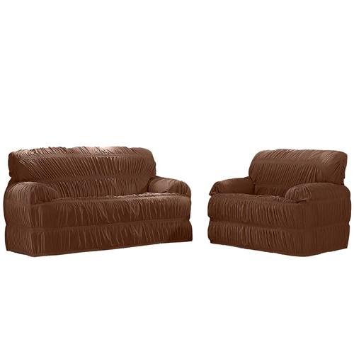 Capa para sofá Adomes Malha 540 - Marrom
