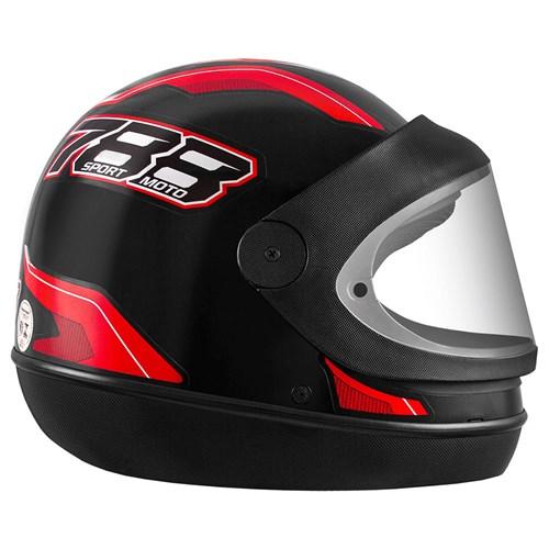 Capacete Pro Tork New Sport 788 - 56 Preto/Vermelho