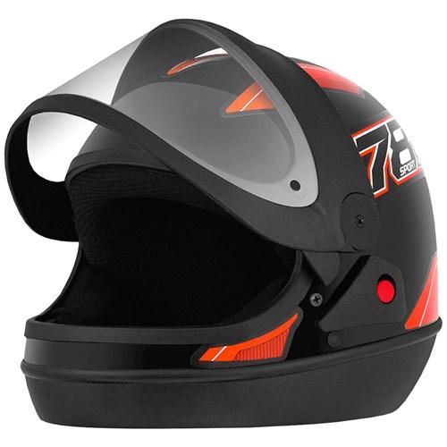 Capacete Pro Tork New Sport 788 - 58 Preto/Laranja