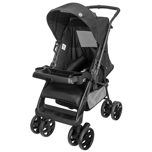 Carrinho de Bebê Tutti Baby Black TB 3900 - Preto 0 a 15kg