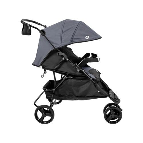 Carrinho de Bebê Tutti Baby Evo - Preto/Cinza