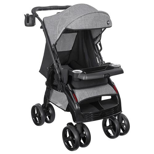 Carrinho de Bebê Tutti Baby Silver US 5800 - Preto / Cinza 0 a 15kg