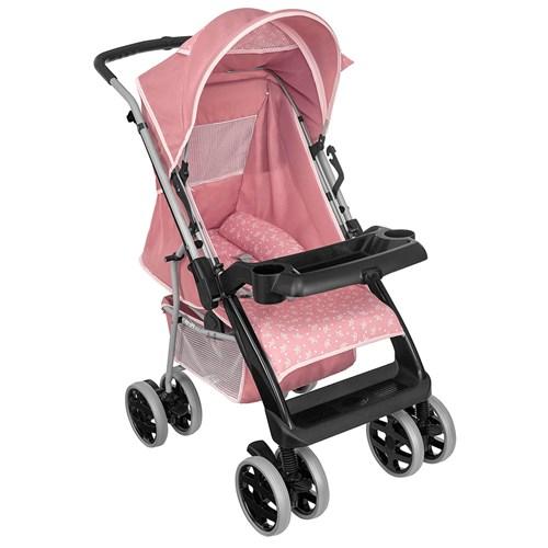 Carrinho de Bebê Tutti Baby Thor Plus 3900 - Rosa Coroa 0 a 15kg