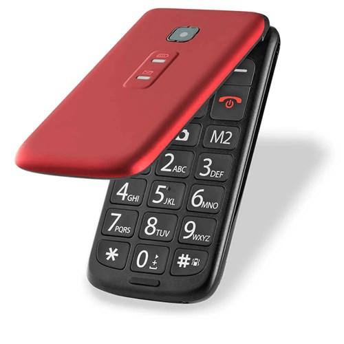 Celular Multilaser P9021 Flip - Câmera Integrada Dual Chip Vermelho